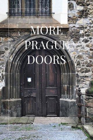 MORE PRAGUE DOORS