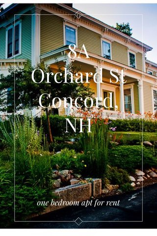 8A Orchard St Concord, NH one bedroom apt for rent