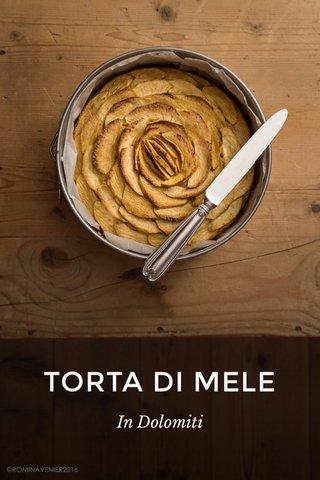 TORTA DI MELE In Dolomiti