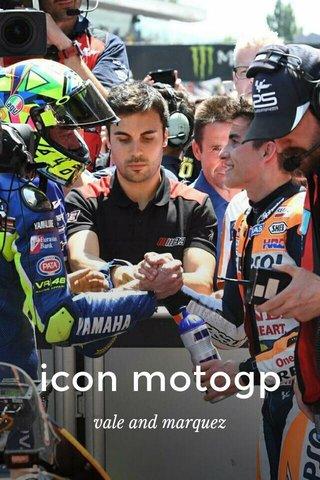 icon motogp vale and marquez