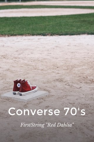 """Converse 70's FirstString """"Red Dahlia"""""""