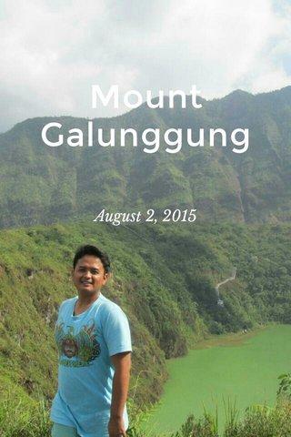 Mount Galunggung August 2, 2015