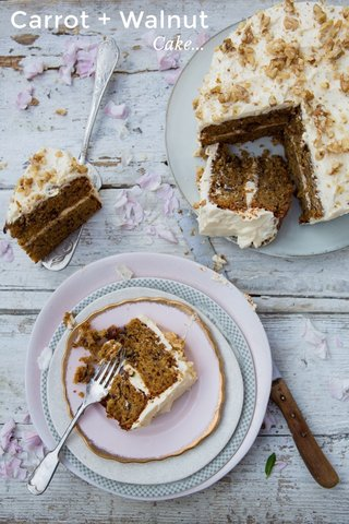 Carrot + Walnut Cake...