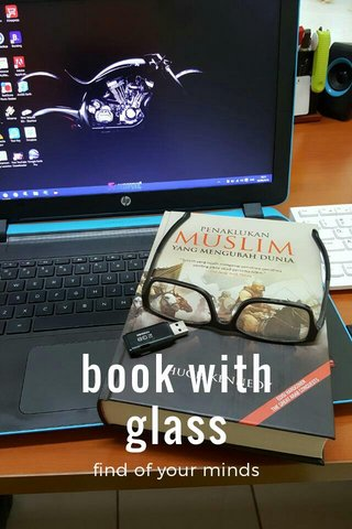 book with glass find of your minds
