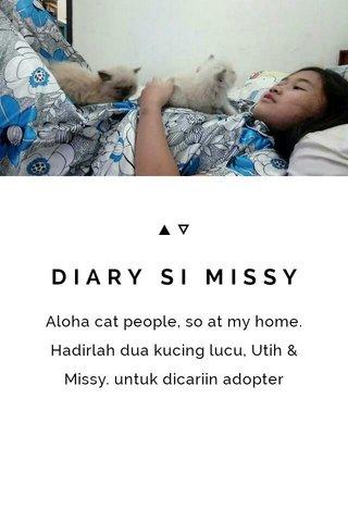 DIARY SI MISSY