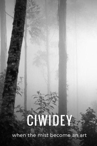 CIWIDEY when the mist become an art