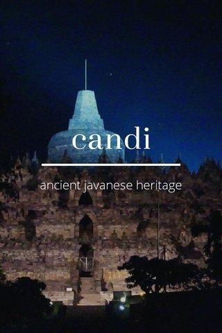 candi ancient javanese heritage