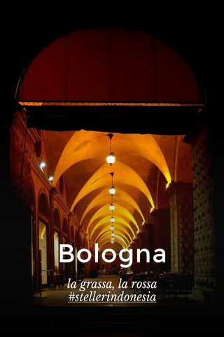 Bologna la grassa, la rossa #stellerindonesia