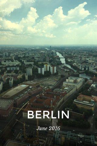 BERLIN June 2016