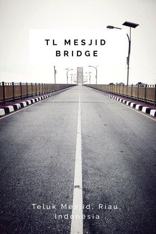 TL MESJID BRIDGE Teluk Mesjid, Riau, Indonesia