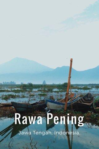 Rawa Pening Jawa Tengah, Indonesia.