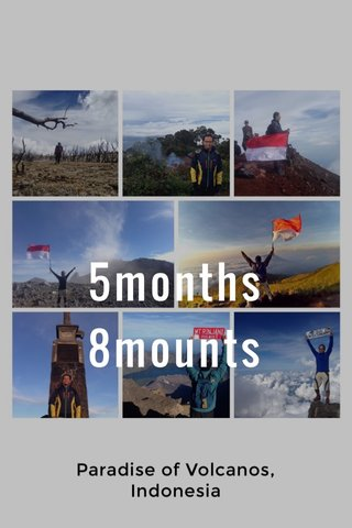 5months 8mounts Paradise of Volcanos, Indonesia