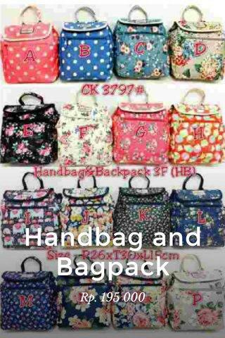 Handbag and Bagpack Rp. 195 000