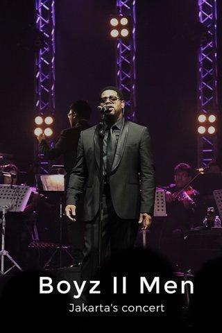 Boyz II Men Jakarta's concert
