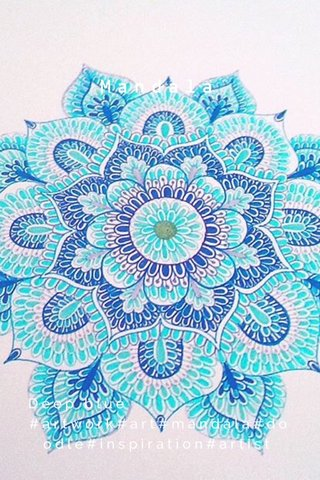 Mandala Deep blue #artwork#art#mandala#doodle#inspiration#artist