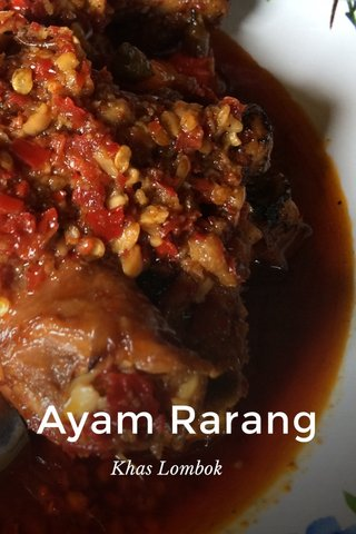 Ayam Rarang Khas Lombok