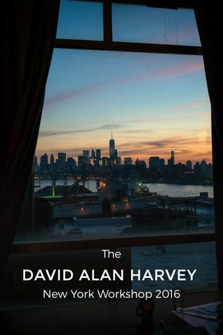 DAVID ALAN HARVEY The New York Workshop 2016