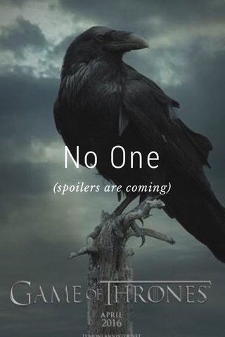 No One (spoilers are coming)