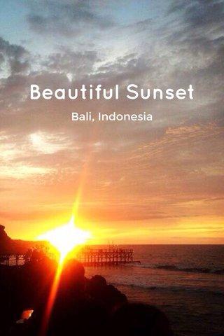 Beautiful Sunset Bali, Indonesia