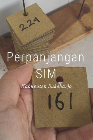 Perpanjangan SIM Kabupaten Sukoharjo