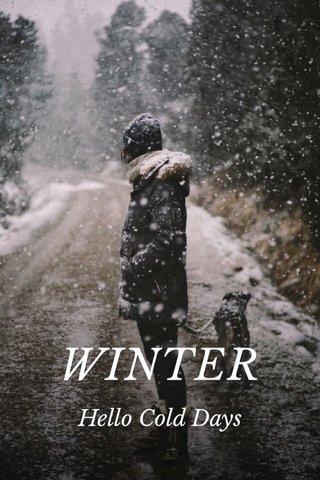 WINTER Hello Cold Days