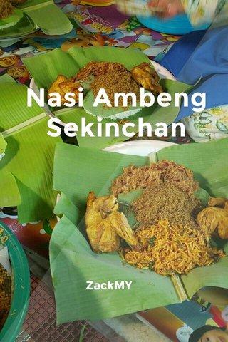 Nasi Ambeng Sekinchan ZackMY
