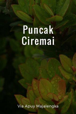 Puncak Ciremai Via Apuy Majalengka