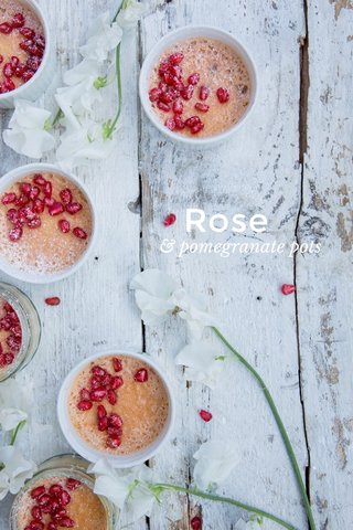 Rose & pomegranate pots