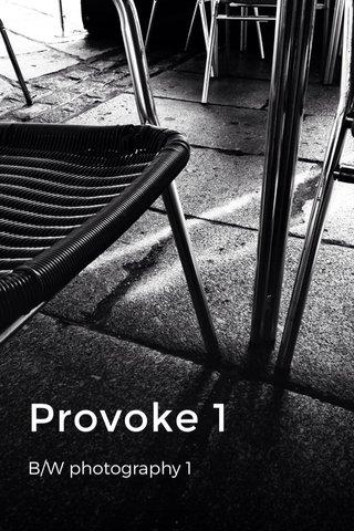 Provoke 1 B/W photography 1