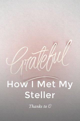 How I Met My Steller Thanks to Ü