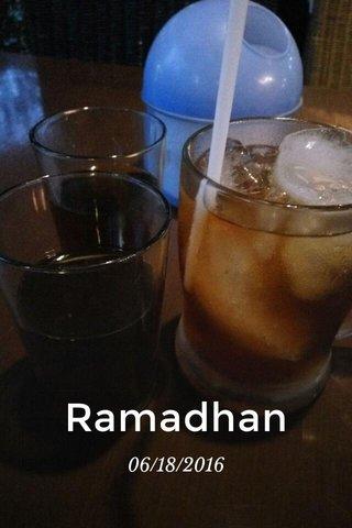 Ramadhan 06/18/2016