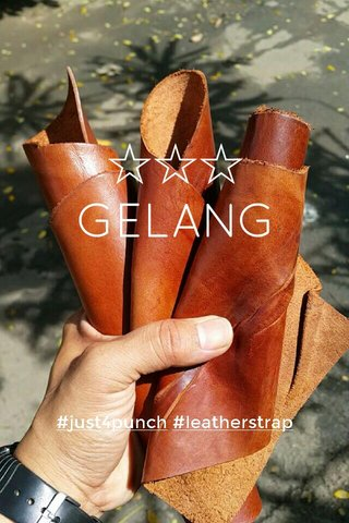 ☆☆☆ GELANG #just4punch #leatherstrap