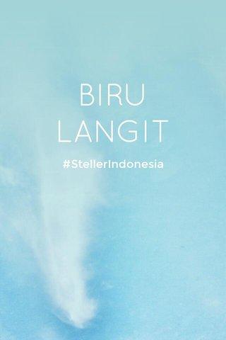 BIRU LANGIT #StellerIndonesia