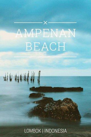 AMPENAN BEACH LOMBOK   INDONESIA