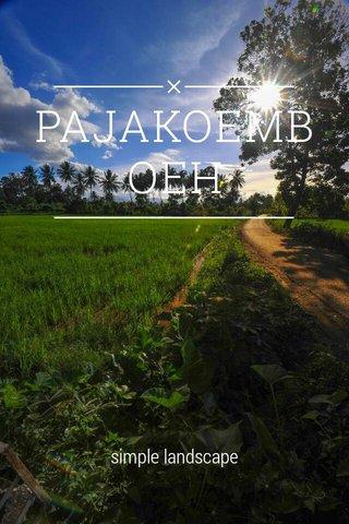 PAJAKOEMBOEH simple landscape