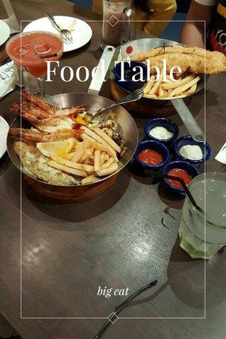 Food Table big eat