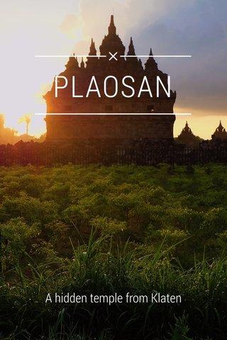 PLAOSAN A hidden temple from Klaten
