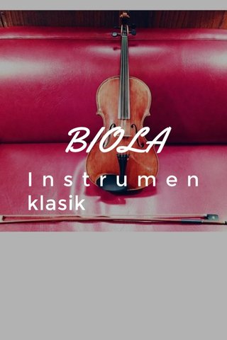 BIOLA Instrumen klasik