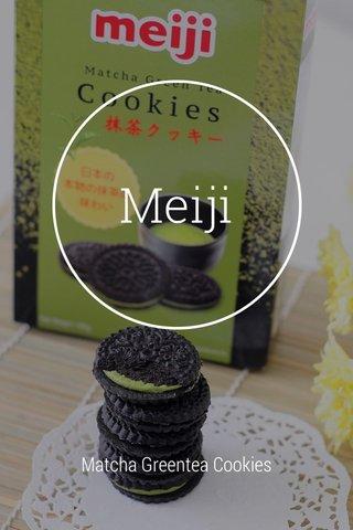 Meiji Matcha Greentea Cookies