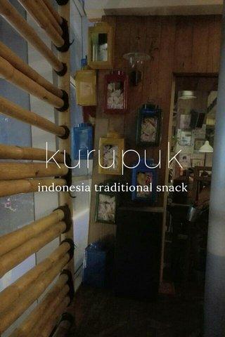 kurupuk indonesia traditional snack