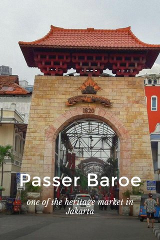 Passer Baroe one of the heritage market in Jakarta
