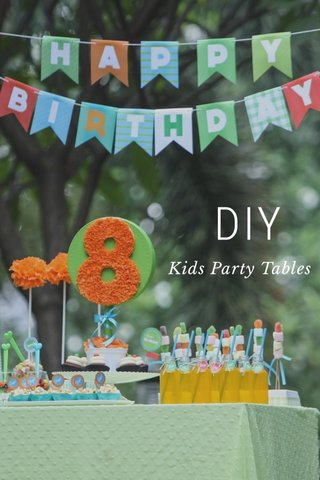 DIY Kids Party Tables