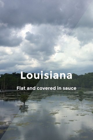 Louisiana Flat and covered in sauce