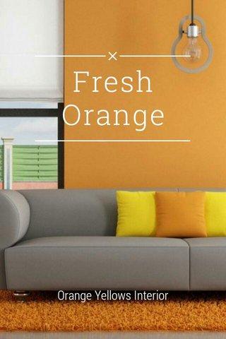 Fresh Orange Orange Yellows Interior