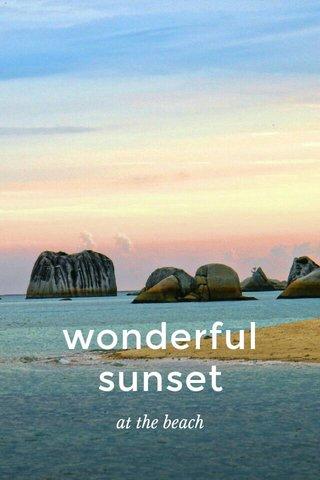 wonderful sunset at the beach
