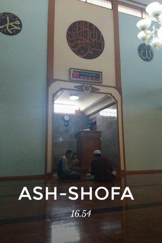ASH-SHOFA 16.54