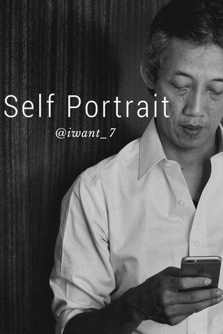 Self Portrait @iwant_7