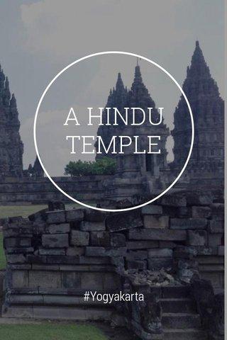 A HINDU TEMPLE #Yogyakarta