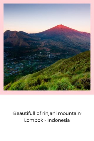 Beautifull of rinjani mountain Lombok - Indonesia