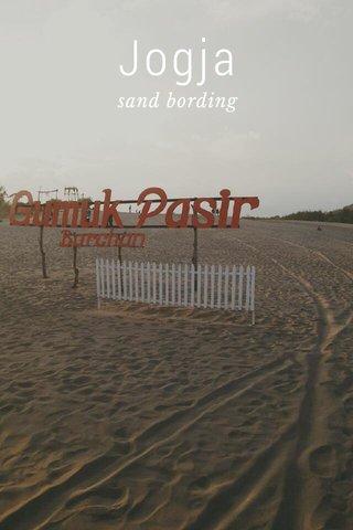 Jogja sand bording